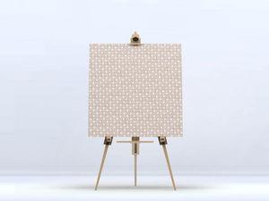 la Magie dans l'Image - toile trèfle beige blanc - Digital Wall Coverings