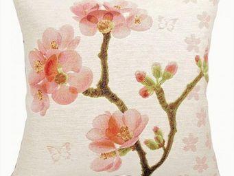 Art De Lys - deux branches fleuries - Square Cushion