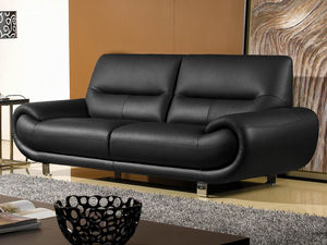WHITE LABEL - canapé cuir 3 places angie - 3 Seater Sofa