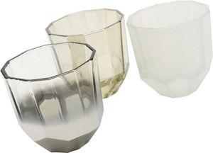 Amadeus - photophores en verre 3 coloris (lot de 3) - Candle Jar