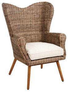 Aubry-Gaspard - fauteuil en teck et poelet - Armchair