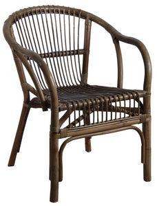 Aubry-Gaspard - fauteuil en rotin gris - Armchair
