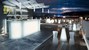 Lyxo by Veca - marvy fronte ed angolo - Lighted Bar Counter