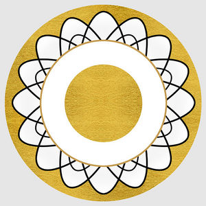 Design Atelier - goldene sonne - Decorative Platter