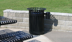 Maglin Site Furniture - 32 gallon waste - Litter Bin