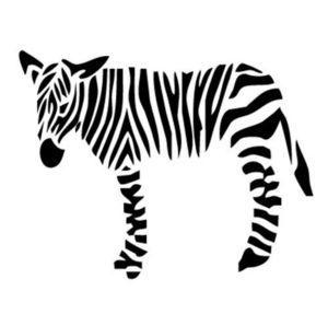 Sticoeur - zèbre - Sticker