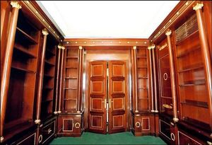 ACI Antiquités - bibliothèque en acajou de cuba - Bookcase