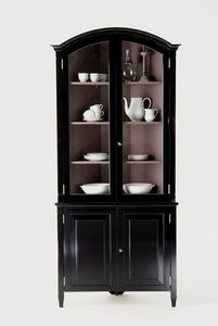 Leporello - corner cuboard with glazed doors - Corner China Cabinet