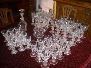 Antiquités Anne & Thierry - service baccarrat - Liquor Glass