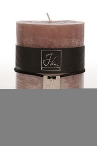 BELDEKO - bougie cylindre taupe l - Round Candle