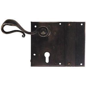 FERRURES ET PATINES - serrure de porte d'exterieur a coffre en fer viei - Keyhole