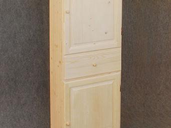 BARCLER - bonnetière en bois brut 62x180x40cm - Bonnetiere Cupboard