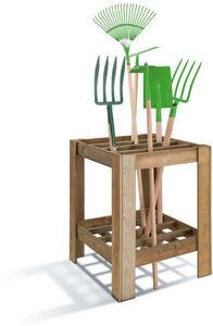 JARDIPOLYS - casier range-outils en pin 60x60x75cm - Garden Tools Tidy