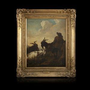 Expertissim - philipp peter roos. berger et son troupeau dominan - Landscape Painting
