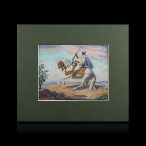 Expertissim - louis john endres. fantassin de zemmour - Orientalist Painting