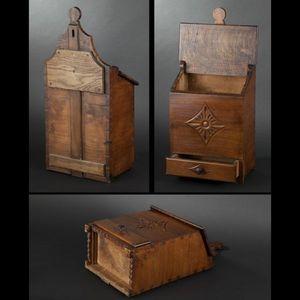 Expertissim - boîte à farine en bois fruitier - Salt Box