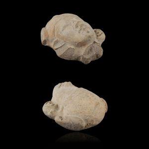 Expertissim - tête d'un personnage en terre cuite. equateur, la - Pre Columbian Object
