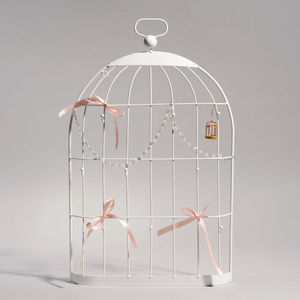 Maisons du monde - cage porte bijoux murale blanche - Jewellery Box