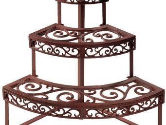 Esschert Design - étagère d'angle en métal patiné - Garden Pot Holder