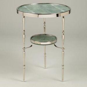 Vaughan - capri round nickel table - Pedestal Table