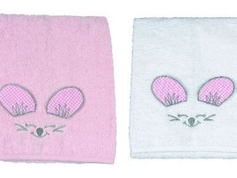 SIRETEX - SENSEI - drap de douche enfant 70x140cm en forme de souris  - Children's Bath Towel