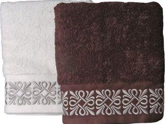 SIRETEX - SENSEI - serviette invité 30x50cm brodée madison 550gr/m² c - Guest Towel