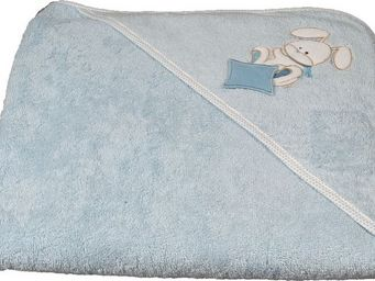 SIRETEX - SENSEI - cape de bain brodée doudou rabbit bleu - Hooded Towel