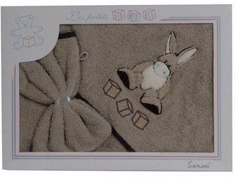 SIRETEX - SENSEI - coffret cape de bain+ gant brodés kadichon l'ane - Hooded Towel