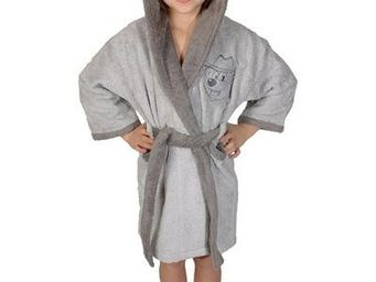 SIRETEX - SENSEI - peignoir enfant bicolore capuche jasper - Children's Dressing Gown