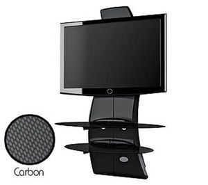 Meliconi - meuble tv ghost design 2000 noir carbone - Monitor Support