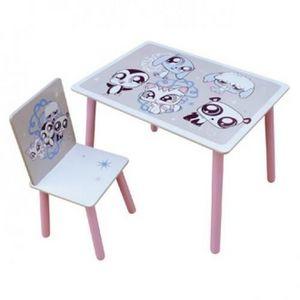 LITTLES PET SHOP - ensemble table + chaise littlest petshop - Children's Table