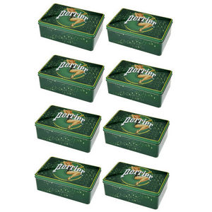 WHITE LABEL - 8 boîtes à sucres ou biscuits collection perrier g - Biscuit Tin