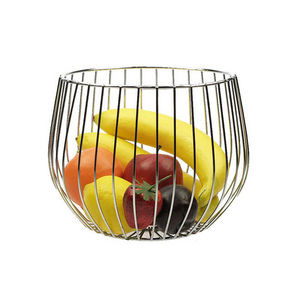 WHITE LABEL - corbeille design en métal chromé - Fruit Holder