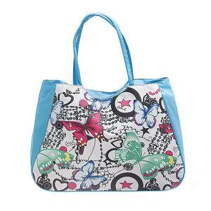 WHITE LABEL - grand sac cabas papillon motif papillons - Handbag