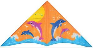 WDK Groupe Partner - cerf-volant dauphins 1 commande 130x65cm - Kite