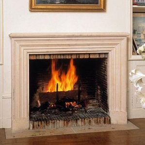 Jean Magnan Cheminees - fontainebleau en pierre - Open Fireplace