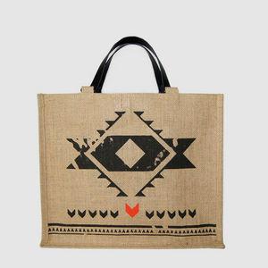 JOVENS - cabas en jute et cuir nouveau monde - Handbag