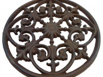 L'HERITIER DU TEMPS - centre de table en fonte ø25cm - Plate Coaster