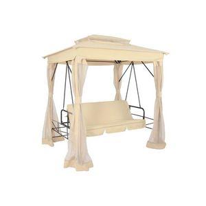 WHITE LABEL - balancelle couverte luxe crème - Swinging Chair