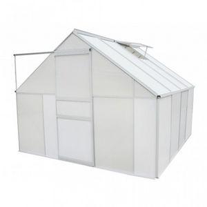 WHITE LABEL - serre de jardin polycarbonate 6.25 m2 - Greenhouse