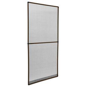 WHITE LABEL - moustiquaire pour porte cadre fixe en aluminium 95x210 cm blanc - Window Fitted Mosquito Screen