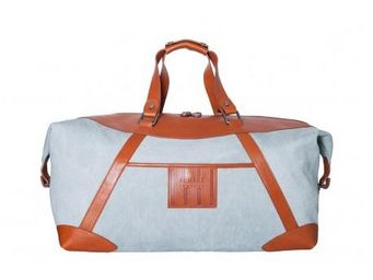 ALMARE TOSCANA - sac 48h giovanni - bleu / camel - Travel Bag