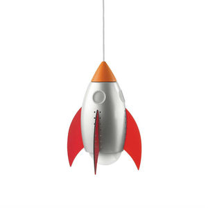 Philips - rocky - suspension fusée multicolore h26,7cm | lum - Children's Hanging Decoration