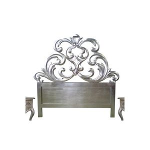 DECO PRIVE - tête de lit 160 cm sculptée bois argenté granada - Headboard