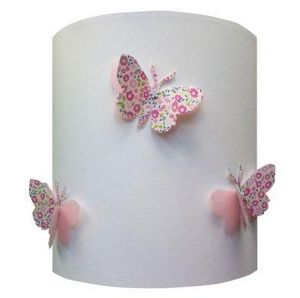 LILI POUCE - liberty rose fond blanc - Child Lampshade