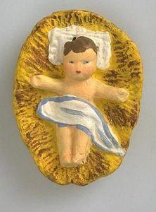 Santons Fouque - enfant jésus - Christmas Figurine