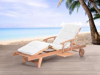 BELIANI - transats en bois - Lounge Chair
