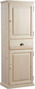 Aubry-Gaspard - bonnetière en bois brut 62x40x180cm - Bedroom Wardrobe