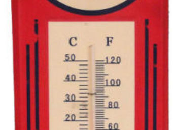Antic Line Creations - thermomètre vintage esso - Thermometer