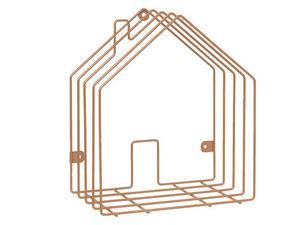 Present Time - rangement magazine house en métal cuivré - Magazine Rack